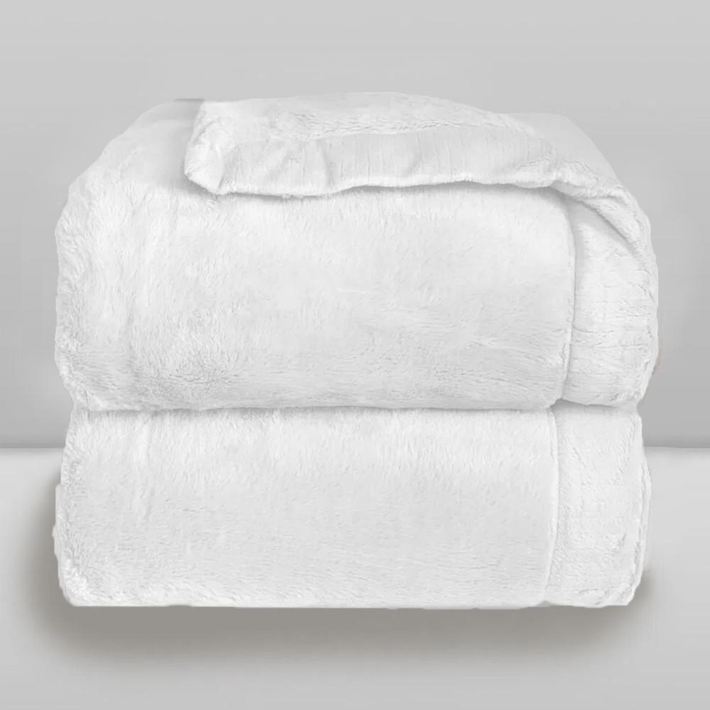 Cobertor Laço Bebê Plush Cosy Branco