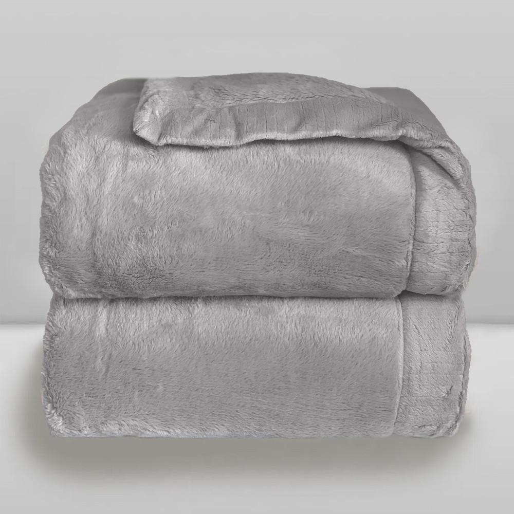 Cobertor Laço Bebê Plush Cosy Cinza