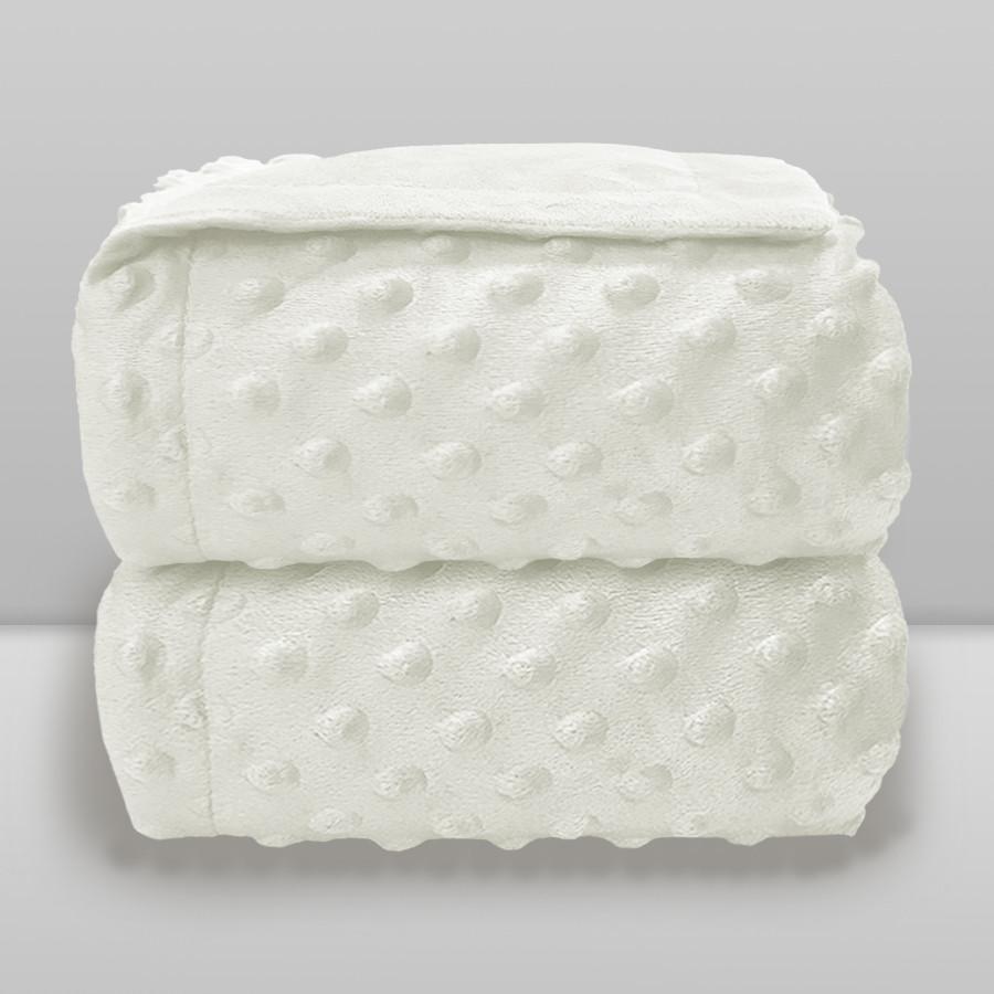 Cobertor Laço Bebê Plush Dots Branco