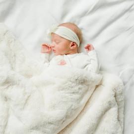 Cobertor Laço Bebê Pellit Peles Off White
